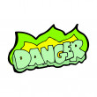 Stock Vector: Cartoon danger sign
