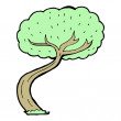 Tree cartoon — Stock Vector