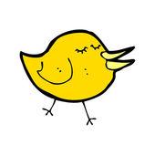 Yellow bird cartoon — Stock Vector