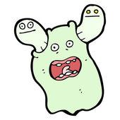 Crazy ghost cartoon — Stock Vector