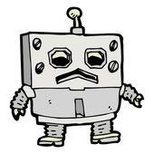 Vector Cartoon Futuristic Robot — Stock Vector