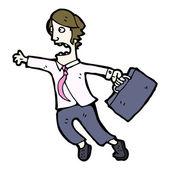 Businessman in rush cartoon — Stock Vector