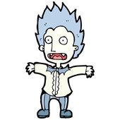 Cartoon schockiert vampir — Stockvektor