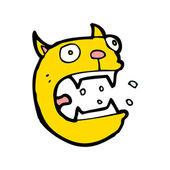 Korkmuş kedi çizgi film — Stok Vektör