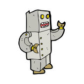 Robot dance cartoon — Stock Vector