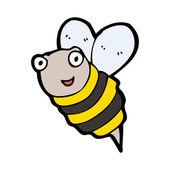 Létající včelka — Stock vektor