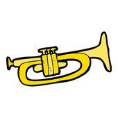 Cartoon trumpet — Stock Vector