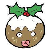 Weihnachten plumpudding charakter — Stockvektor