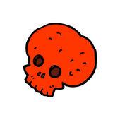 诡异的红色骷髅卡通 — 图库矢量图片