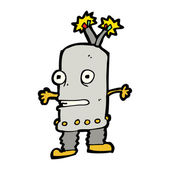 Talking cartoon robot — Stock Vector