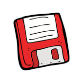 Cartoon retro floppy disk — Stock Vector