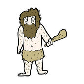 Cartoon cave man — Stock Vector