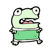 Cartoon little frog — Stock Vector