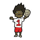 мультфильм футболиста — Cтоковый вектор