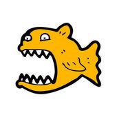 Cartoon piranha — Stock Vector