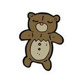 Divertido oso de dibujos animados — Vector de stock