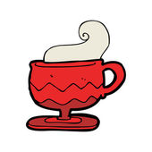 Kreslený horký šálek kávy — Stock vektor