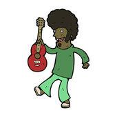 Cartoon guitar player — Stock Vector