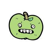 Hässliche apple cartoon — Stockvektor