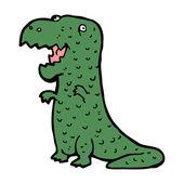 Happy dinosaur cartoon — Stock Vector