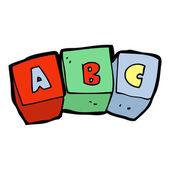 Cartoon letter blocks — Stock Vector