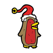 Christmas penguin cartoon — Stock Vector
