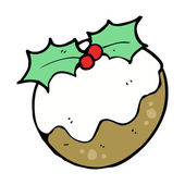 Xmas Plum Pudding Character — Vector de stock