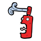 Cartoon screaming aerosol can — Stock Vector
