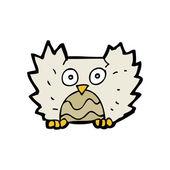 Owl flapping wings cartoon — Stock Vector