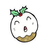 Vánoční švestkový puding charakter — Stock vektor