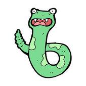 Serpiente de cascabel asustado de la historieta — Vector de stock