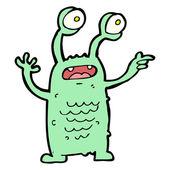 Crazy monster cartoon — Stock Vector