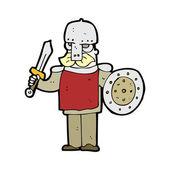 Cartoon medieval soldier — Stock Vector