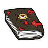 Cartoon magic book — Stock Vector