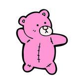 Pink teddy bear cartoon — Stock Vector