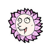 Cartoon happy flower — Stock Vector