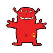 Cartoon grinning alien — Stock Vector