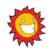 Yaz güneşi karikatür gülümseyen — Stok Vektör