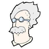 Genius scientist cartoon — Stock Vector