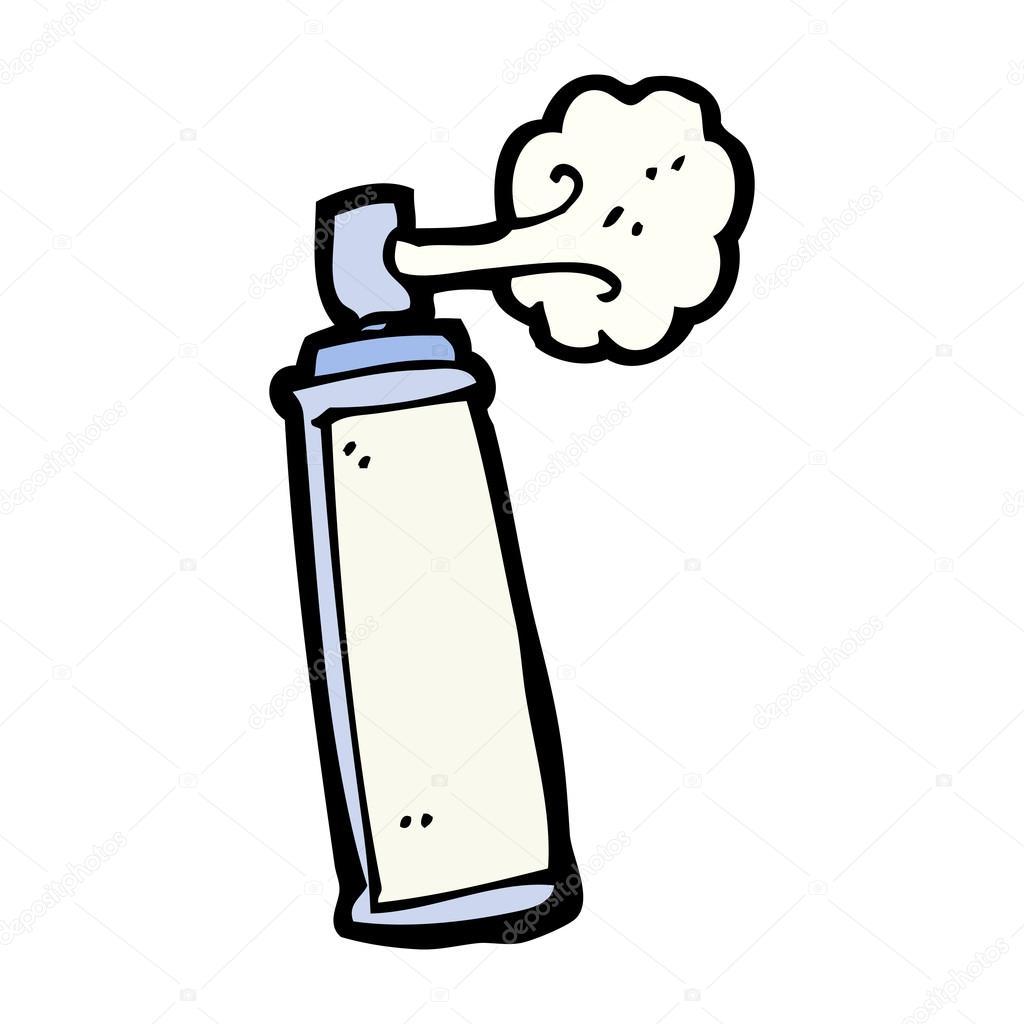Graffiti Spray Can Cartoon Stock Vector