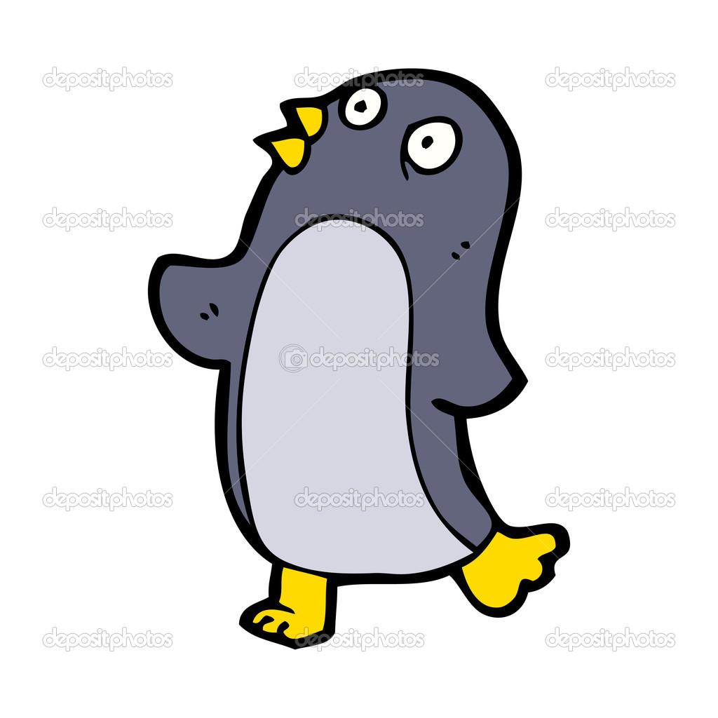 跳舞企鹅卡通 — 矢量图片作者 lineartestpilot