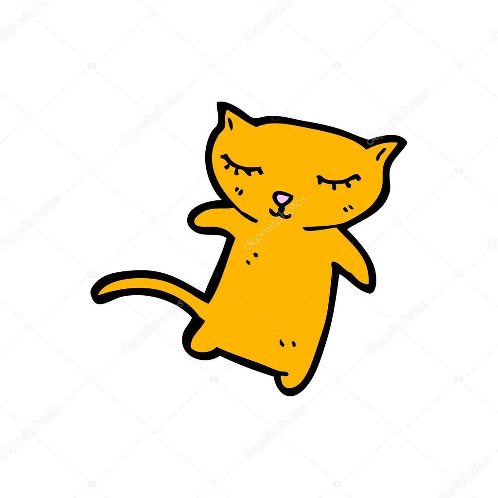可爱姜猫咪卡通 — 图库矢量图像08 lineartest