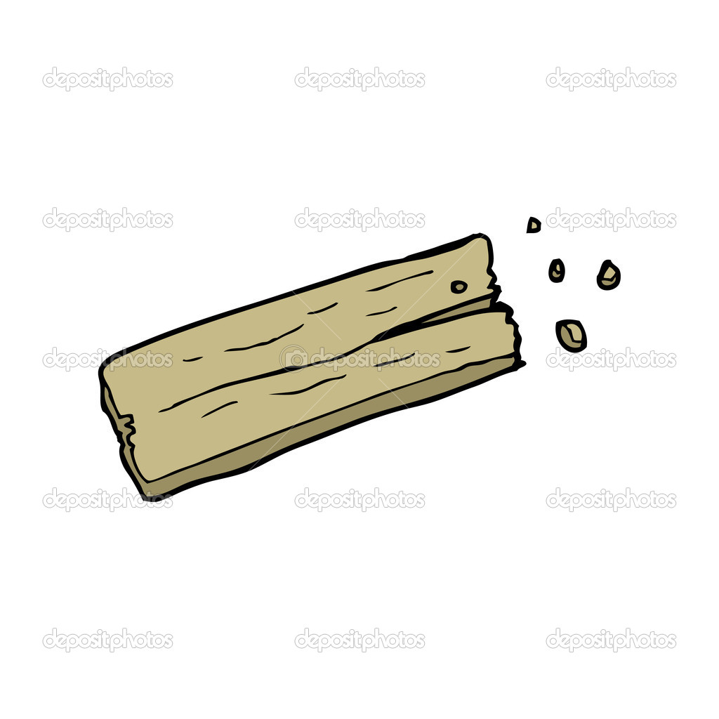 Wooden Plank Cartoon : Plank of wood cartoon — Stock Vector © lineartestpilot #13576503