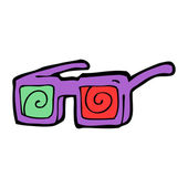 Gafas de rayos x de la historieta — Vector de stock