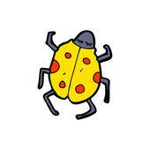 Yellow Ladybug Beetle — Stock Vector