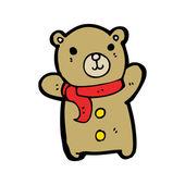 快乐的泰迪熊卡通 — 图库矢量图片
