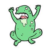 Gross toad cartoon — Stock Vector