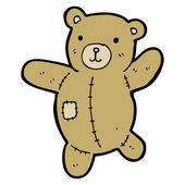 Happy teddy bear cartoon — Stock Vector
