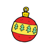 Christmas baubles cartoon — Stock Vector