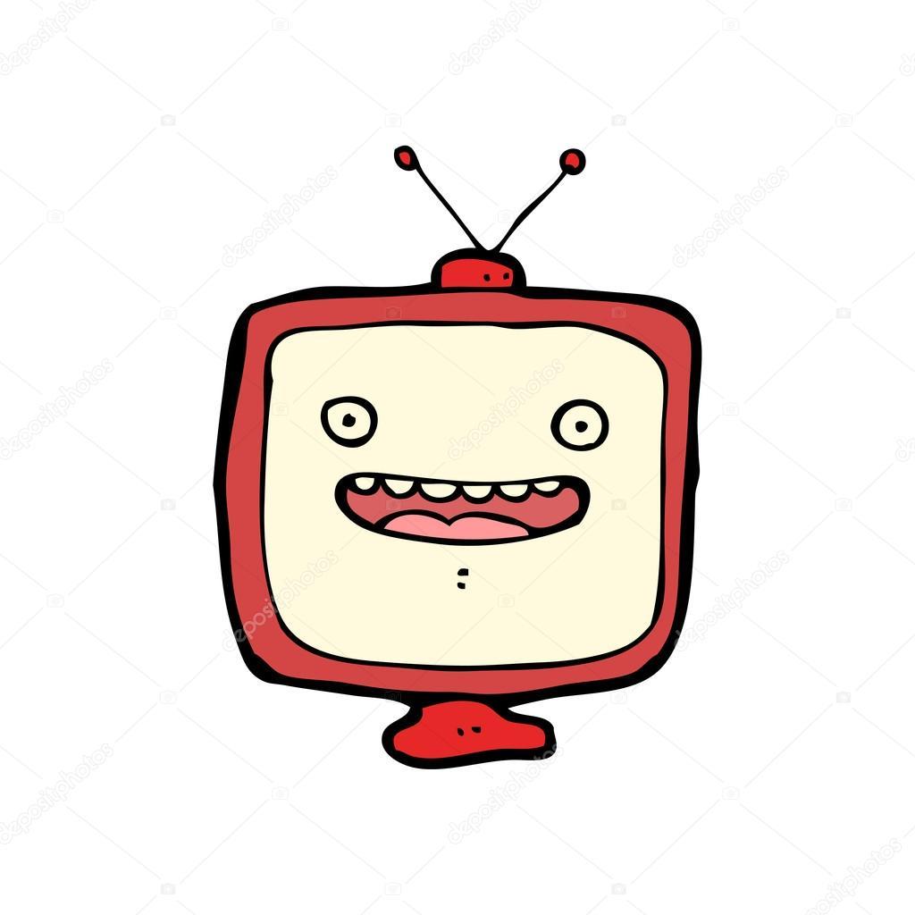 红色框电视字符 — 矢量图片作者